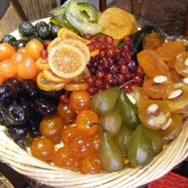 Fruits confits naturels