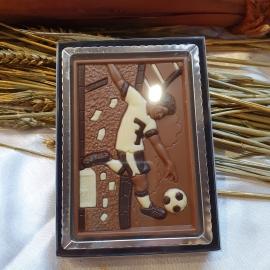 Footballer chocolat
