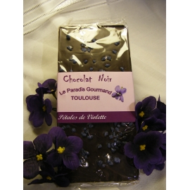 Tablette chocolat noir et violette