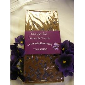 Tablette chocolat lait et violette
