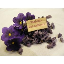 Violettes cristallisées en sachet