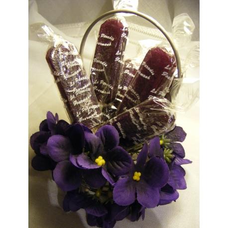 Sucettes à la violette
