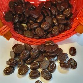 Chocolat au café en forme de grains