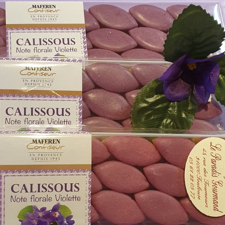 Mini calissons à la violette