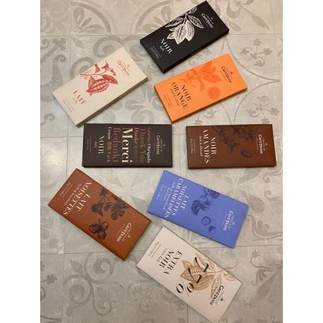Lot de deux tablettes de Chocolat Café-Tasse