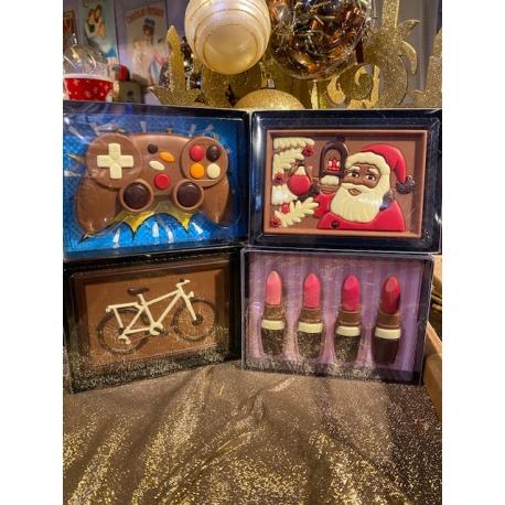 Boite cadeau en chocolat (différents modèles)