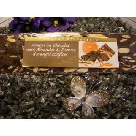 Nougat de Montélimar (chocolat-orange)
