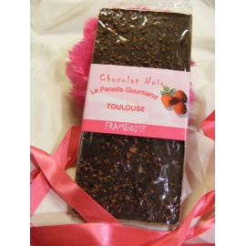 Tablette de chocolat noir framboise