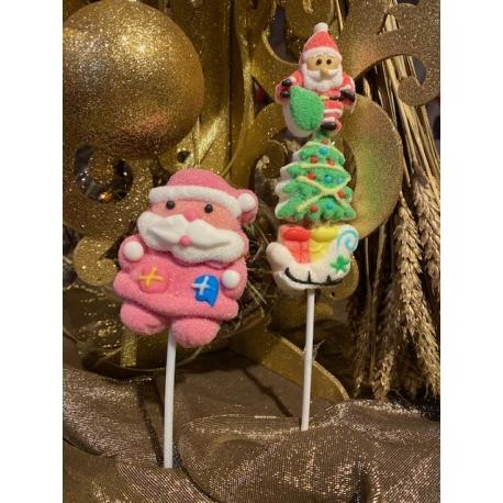 Sucette guimauve personnage de Noël