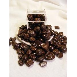 Mélange raisins, oranges, café, au chocolat