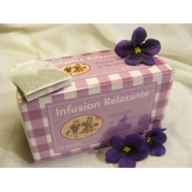 Infusion relaxante Violette et Verveine