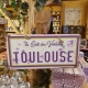 Plaque en métal TOULOUSE (Cité des Violettes)