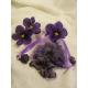 Sachet organdi avec 30 grs de violettes cristalisées