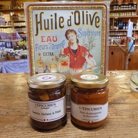 Tomates séchées à l huile ou duo d'aubergines et poivrons
