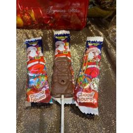 Lot de 3 sucettes au chocolat au lait DE NOEL