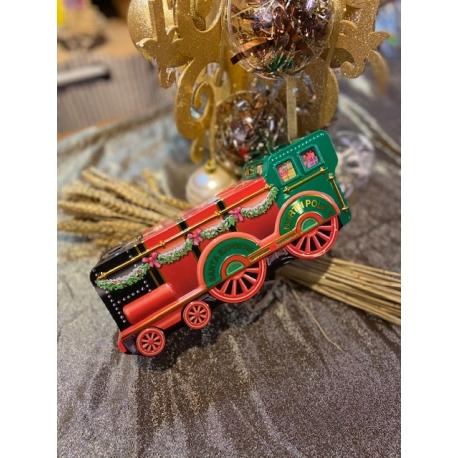 Locomotive du Père Noël en métal