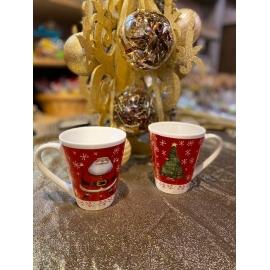 lot de 2 mugs avec anse Père Noël