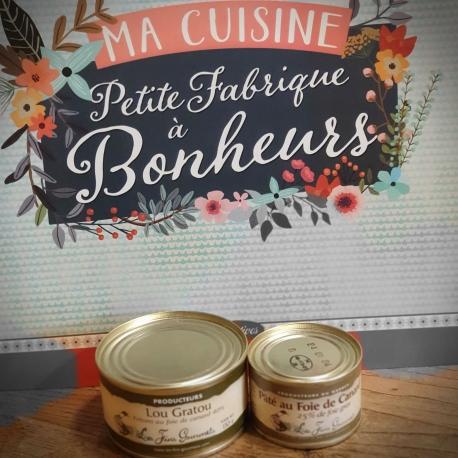 Lot de 2 patés avec Foie gras