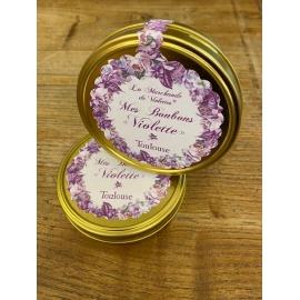 Boîte bonbons acidulés à la violette